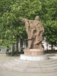 Standbeeld van Edward Anseele aan het Zuid in Gent. Foto : https://commons.wikimedia.org/wiki/User:Demeester